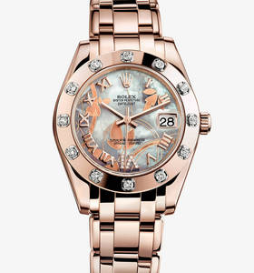 Replica Rolex Datejust Special Edition Watch : 18 ct everose gull - M81315 - 0011