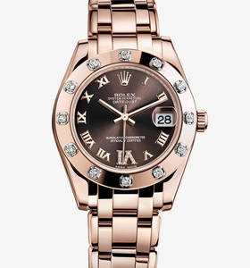 Replica Rolex Datejust Special Edition Watch : 18 ct everose gull - M81315 -0003