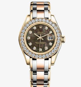 Replica Rolex Lady- Datejust Pearlmaster Watch : 18 ct gult gull - M80298 -0002