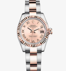 Replica Rolex Lady- Datejust Watch : everose Rolesor - Kombinasjonen av 904L stål og 18 ct everose gull - M179171 - 0068