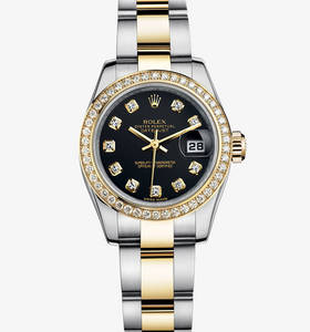 Replica Rolex Lady- Datejust Watch : Gul Rolesor - Kombinasjonen av 904L stål og 18 ct gult gull - M179383 -0030